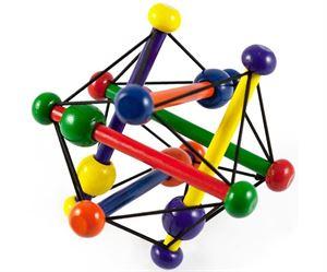 Obrazek Drewniana grzechotka zabawka manipulacyjna