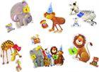 Obrazek Pierwsze puzzle – 6 obrazków: cyfry i ZOO