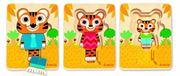 Obrazek Rodzina Tygrysów - Puzzle drewniane trójwarstwowe