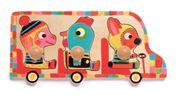 Obrazek Puzzle drewniane - Zwierzątka w autobusie
