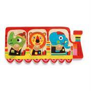 Obrazek Puzzle drewniane - Zwierzątka w pociągu