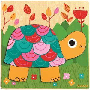 Obrazek Puzzle drewniane Żółw