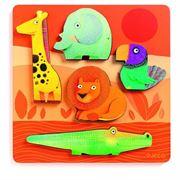 Obrazek Drewniane puzzle zwierzęta z dżungli Leoni