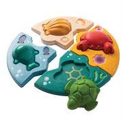 Obrazek Drewniane puzzle zwierzęta morskie