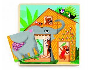 Obrazek Trójwarstwowe puzzle Cabana