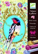 Obrazek Zestaw artystyczny z brokatem Ptak