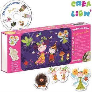Obrazek Wróżki - stempelki piankowe + CD CREA LIGN'