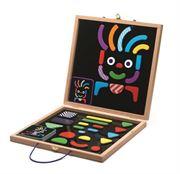 Obrazek Układanka drewniane magnesy w walizce DJECO