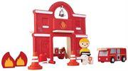 Obrazek Zestaw zabawek straż pożarna PLAN TOYS