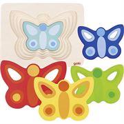 Obrazek Drewniana układanka warstwowa Motylki GOKI