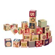 Obrazek Two Four Blocks - drewniane klocki na drewnianej tacy B.TOYS
