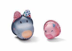 Obrazek Zabawki do wody Wilk Nicolas i Świnka - Bath Bubbles LILLIPUTIENS
