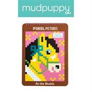 Obrazek Kolorowanka piksele Konie MUDPUPPY