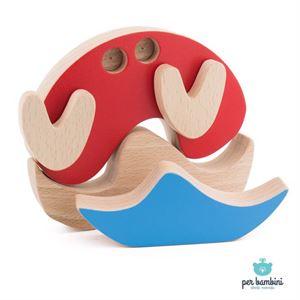 Obrazek Drewniane klocki - układanka Krab PER BAMBINI