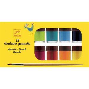 Obrazek Farby gwasze 12 kolorów DJECO