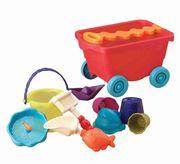 Obrazek Wavey-Wagon - wózek z akcesoriami do piasku - czerwony B.TOYS