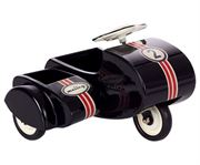 Obrazek Czarny skuter z wózkiem dla Myszek MAILEG