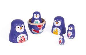 Obrazek Rodzina Pingwinów Matrioszki JANOD