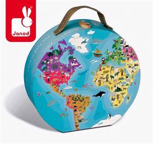 Obrazek Dwustronne puzzle w walizce Błękitna Planeta JANOD
