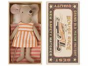Obrazek Myszka - Starsza Siostra w pudełku od zapałek MAILEG