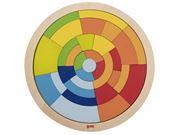Obrazek Koło - drewniana układanka mozaika 31 elementów GOKI