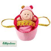 Obrazek Baby Chloe Lalka szmacianka w nosidełku LILLIPUTIENS