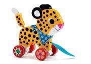 Obrazek Lampart drewniana zabawka do ciągnięcia DJECO