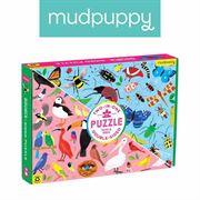 Obrazek Puzzle dwustronne Robaki i ptaki 100 elementów 6+ MUDPUPPY